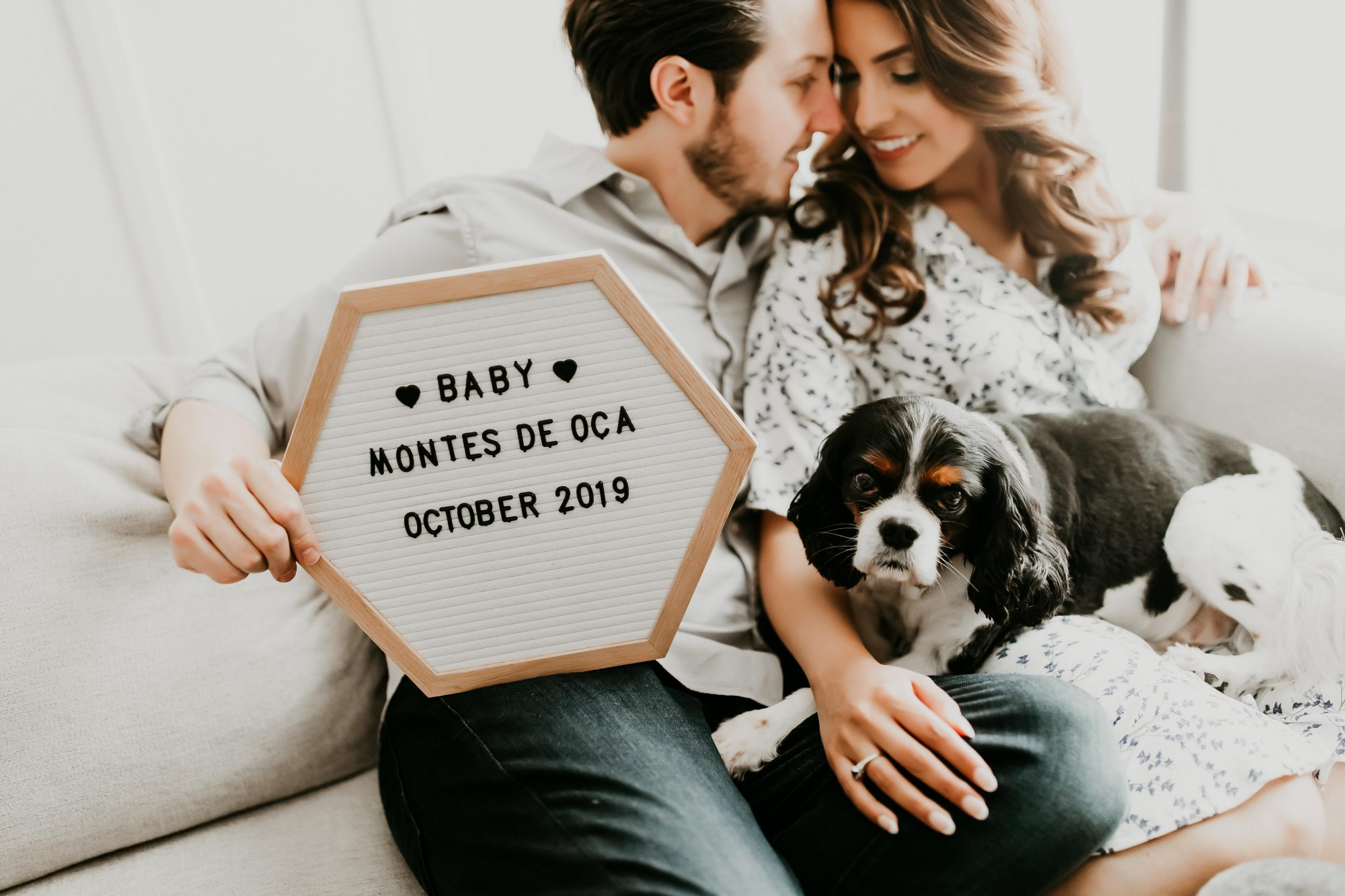 Letterboard Pregnancy Announcement